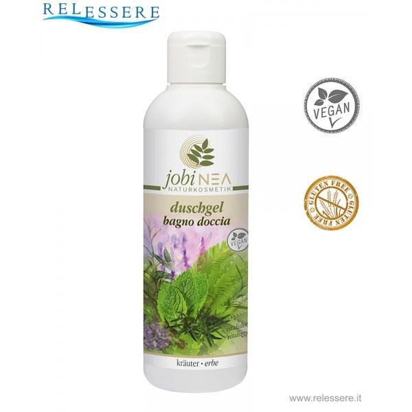 Gel bagno doccia stimolante e rivitalizzante corpo con mentolo, canfora e oli essenziali naturali al 100% - Jobinea