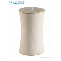 Candela Natale cilindro piccolo avorio - Ronca