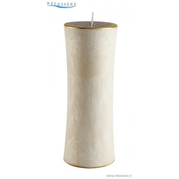 Candela Natale cilindro grande avorio - Ronca