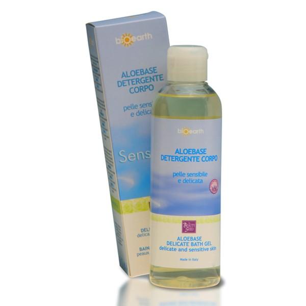 Bioearth detergente corpo per pelli secche e sensibili a base di aloe vera