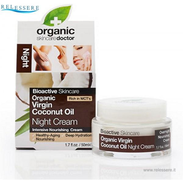 Crema viso notte anti-age all'Olio di Cocco - Dr. Organic