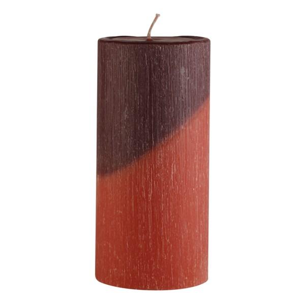Candela in cera bicolore cilindrica