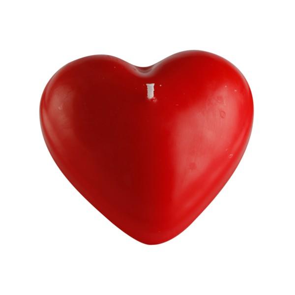 candela galleggiante di cera a forma di cuore