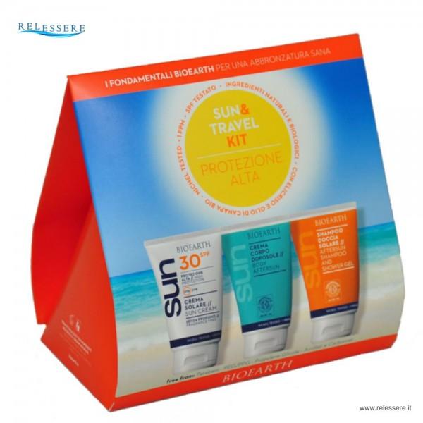 Sun & Travel Kit Protezione alta spf 30 - Bioearth